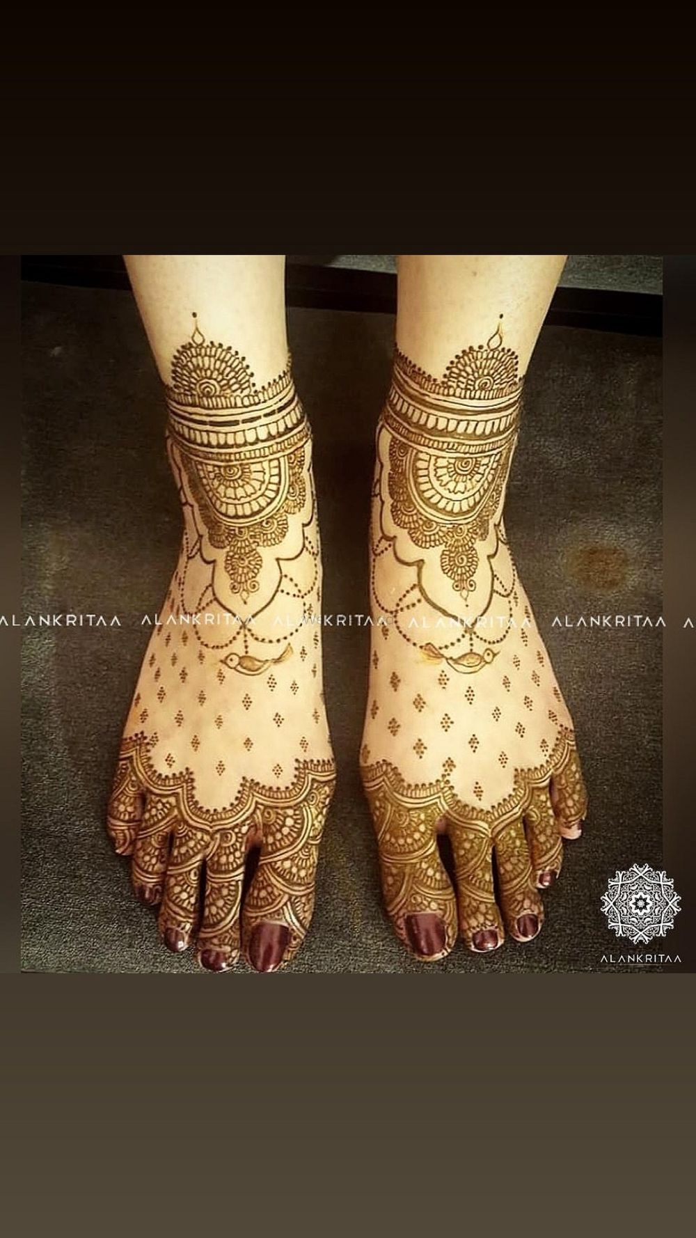 Photo From Simran's bespoke mehandi - By Alankritaa