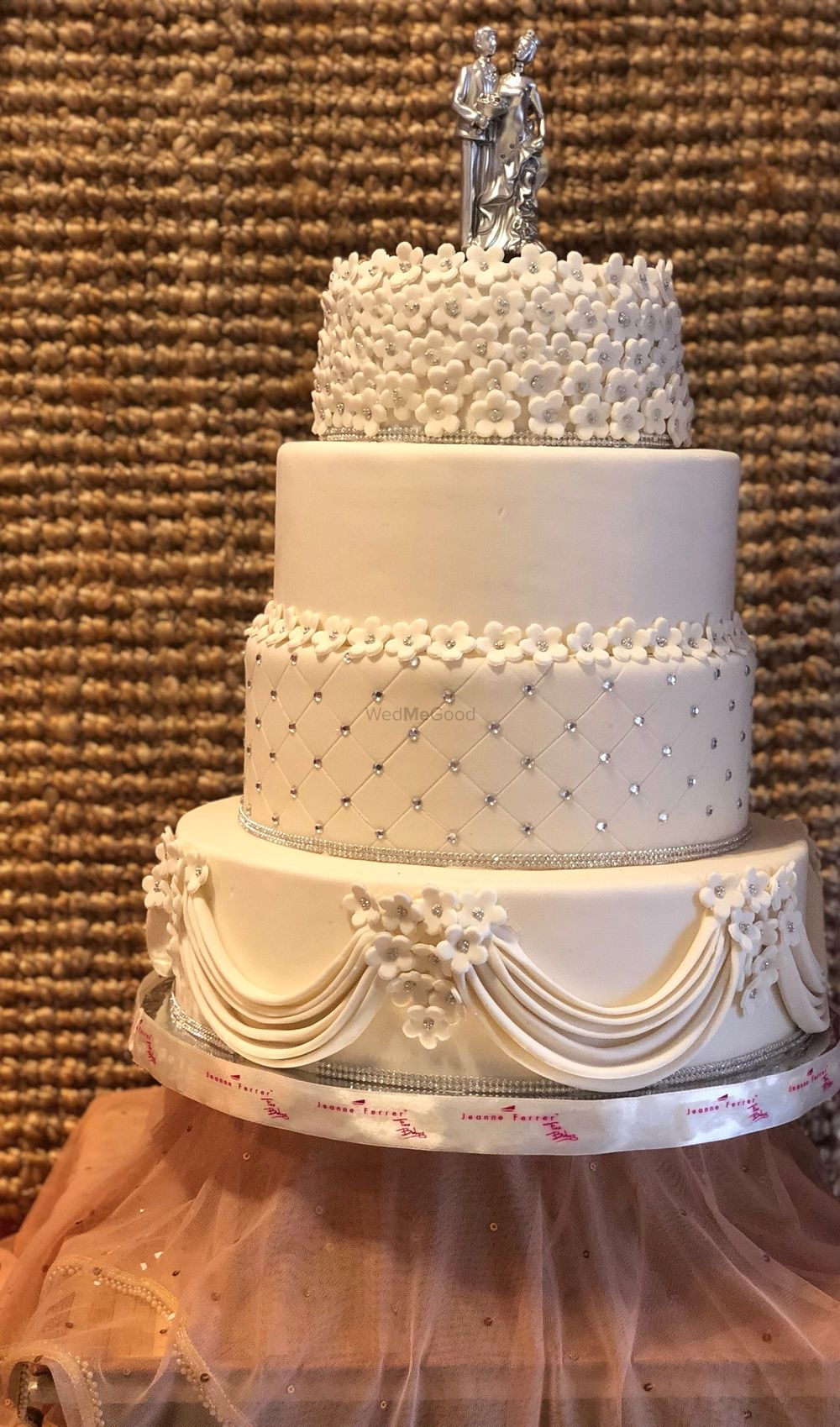 Photo From WHITE AND SILVER WEDDING CAKE - By JeanneFerrer Cake House
