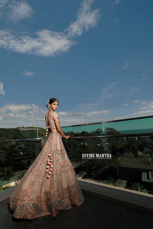Photo of Pastel bridal lehenga in stunning shot