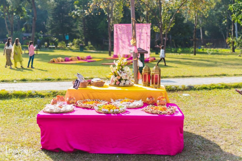 Photo From Pink Mehndi Decor for our very Girly Bride - By Hyacinth Events Planner