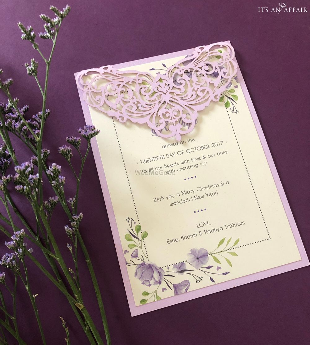 Photo From Lavender Wedding Invite - By Invitations by Its an Affair