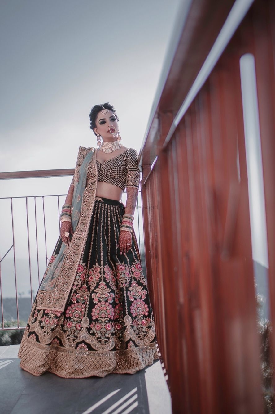 Photo of Offbeat teal sabyasachi bridal lehenga