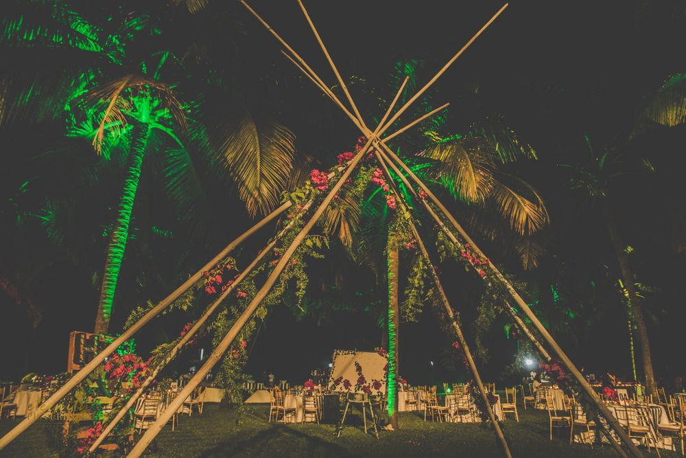 Photo of Unique teepee or tent decor idea for wedding