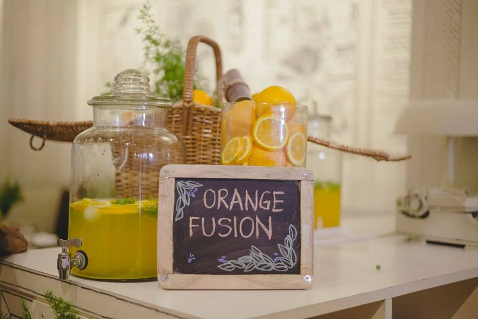 Photo of drinks station