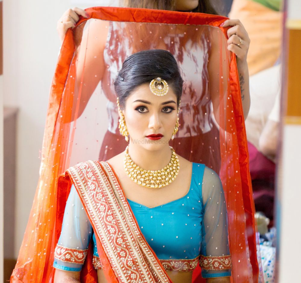 Photo of Bride Wearing Dupatta Shot
