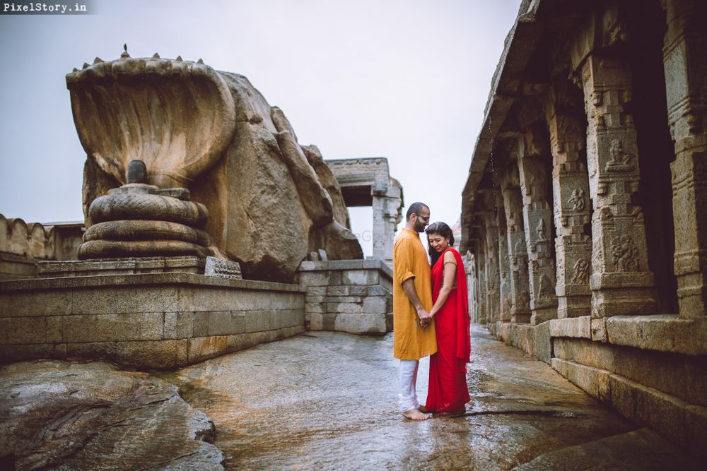 Photo From Indian culture inspired Pre-wedding shoot at Lepakshi Temple - By Pixelstory.in