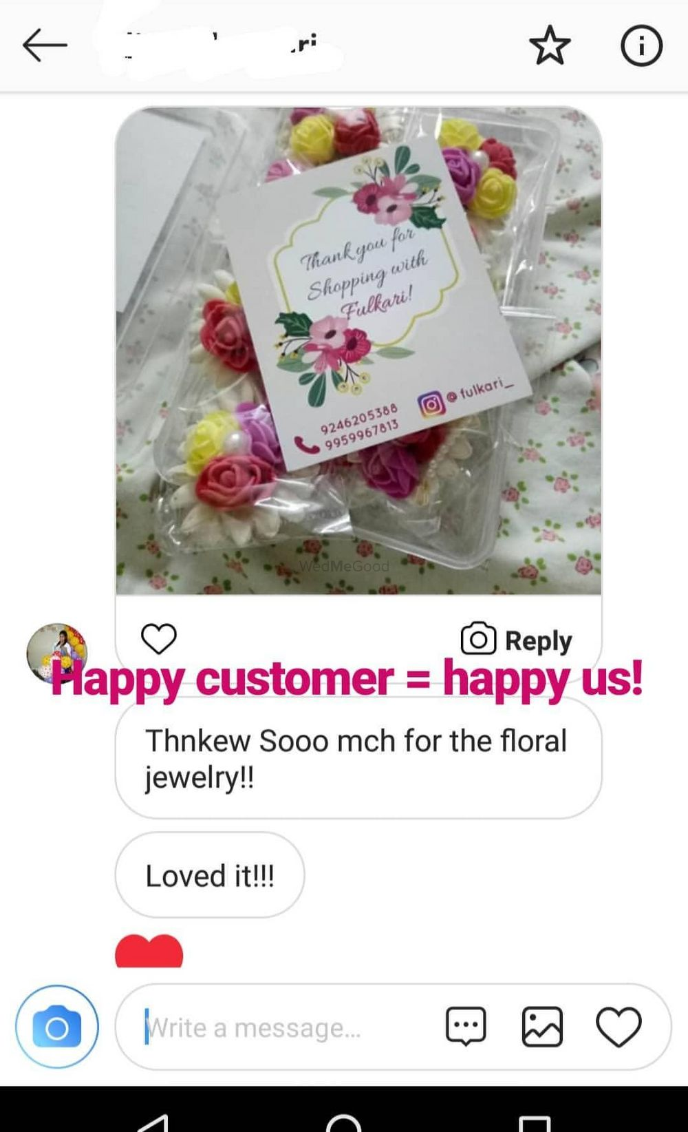 Photo From customer feedback - By Fulkari