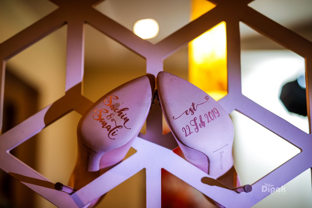 Photo of Customised bridal shoe soles