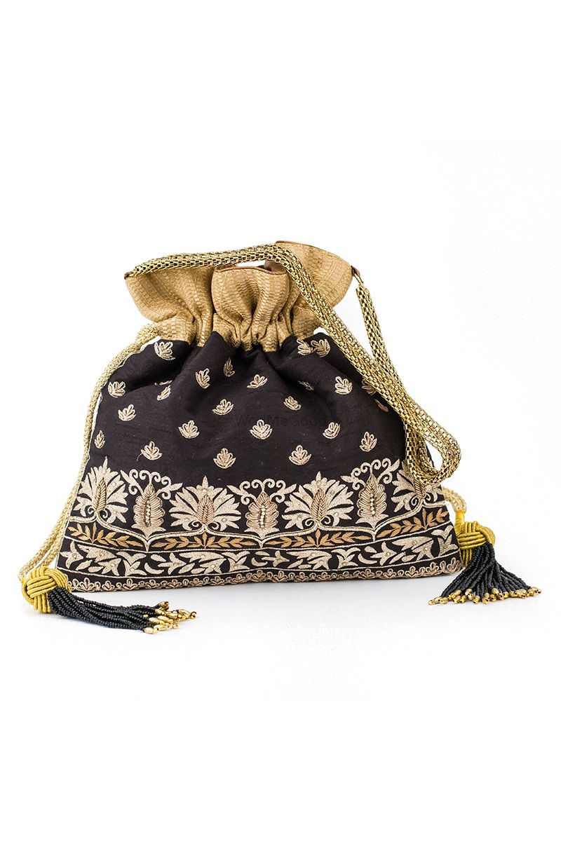 Photo From Hand Embroidered Potlis (Handbags) - By The Muslin Bag