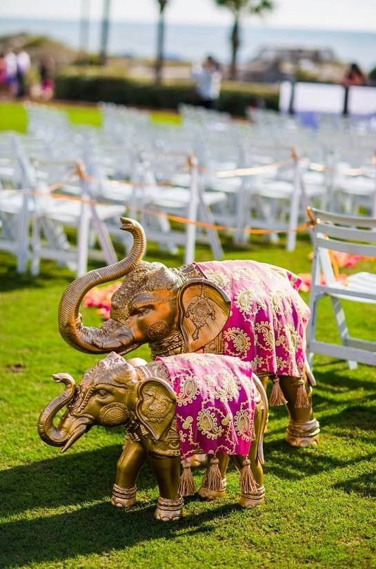 Photo of elephant props as decorative items