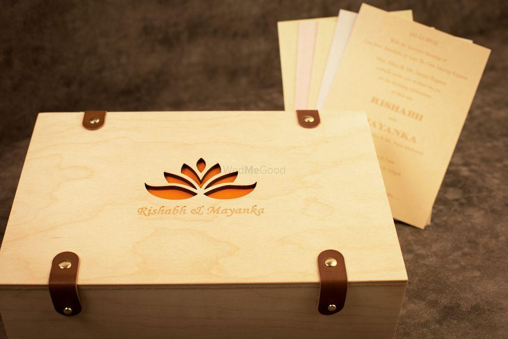 Photo of Wooden invite box