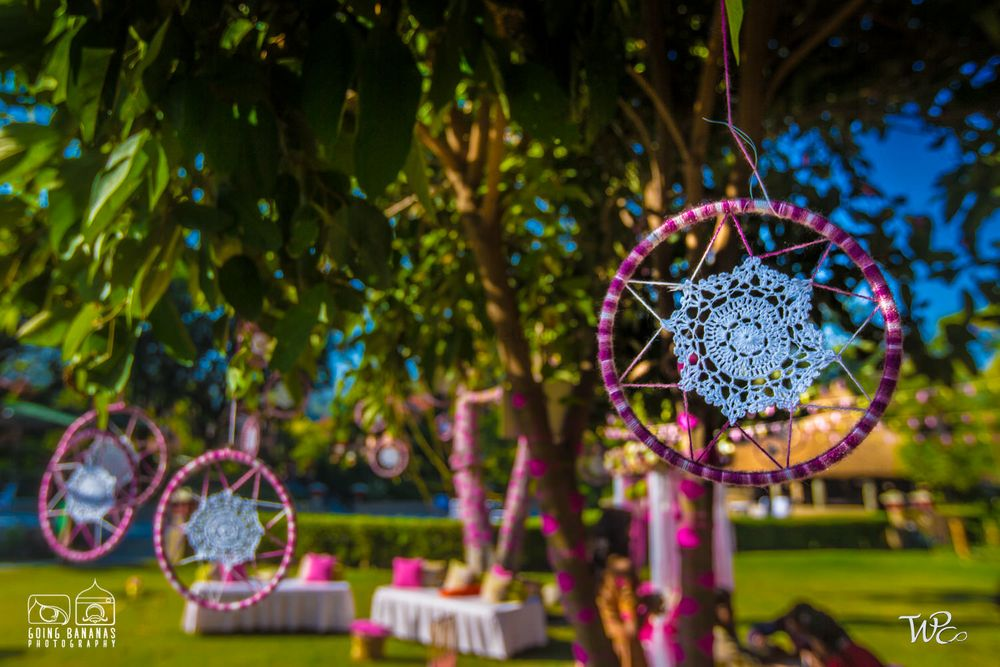 Photo From Crochet Mehendi Decor with a pop of Pink - By The Wedding Planning Company