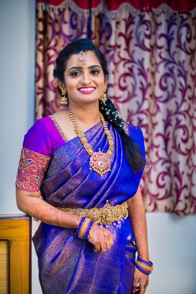 Photo From Indu (South Indian Engagement bride) - By Monika Dey Makeup and Hair