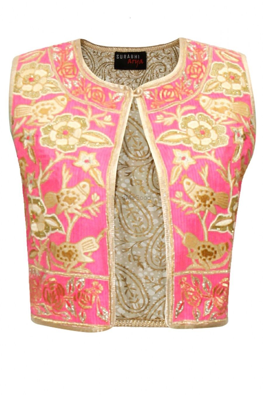Photo of pink and gold gota work blouse