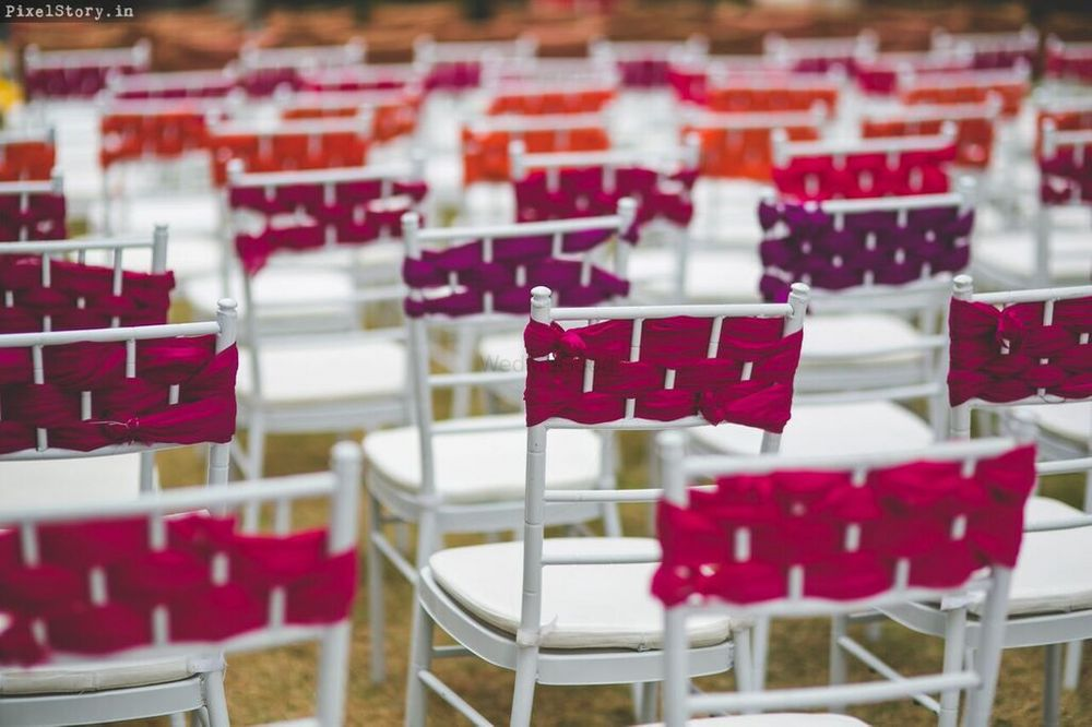 Photo of Purple and Maroon Chair back Decor