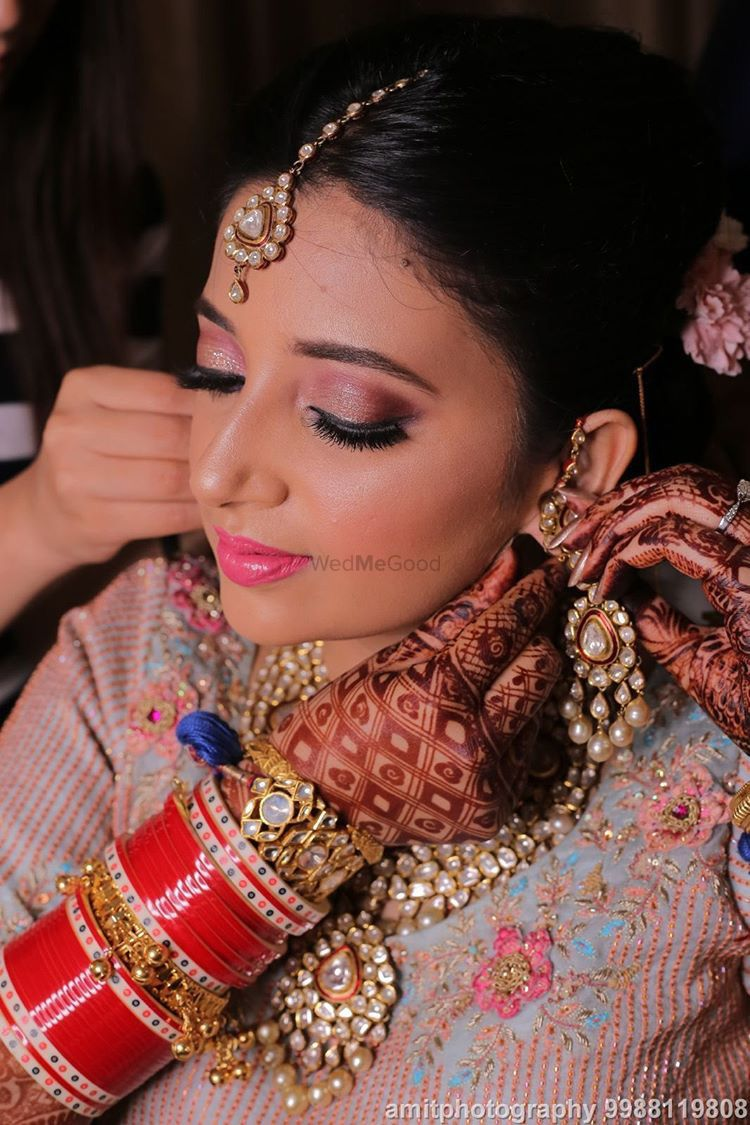 Photo From Bride Sakshi in a Pastel blue lehenga  - By Nidhi Tiwari Talwar Makeup Artist