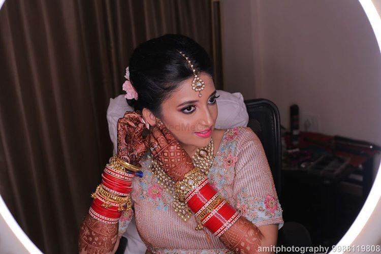 Photo From Bride Sakshi in a Pastel blue lehenga  - By Nidhi Tiwari Talwar Makeup Artist