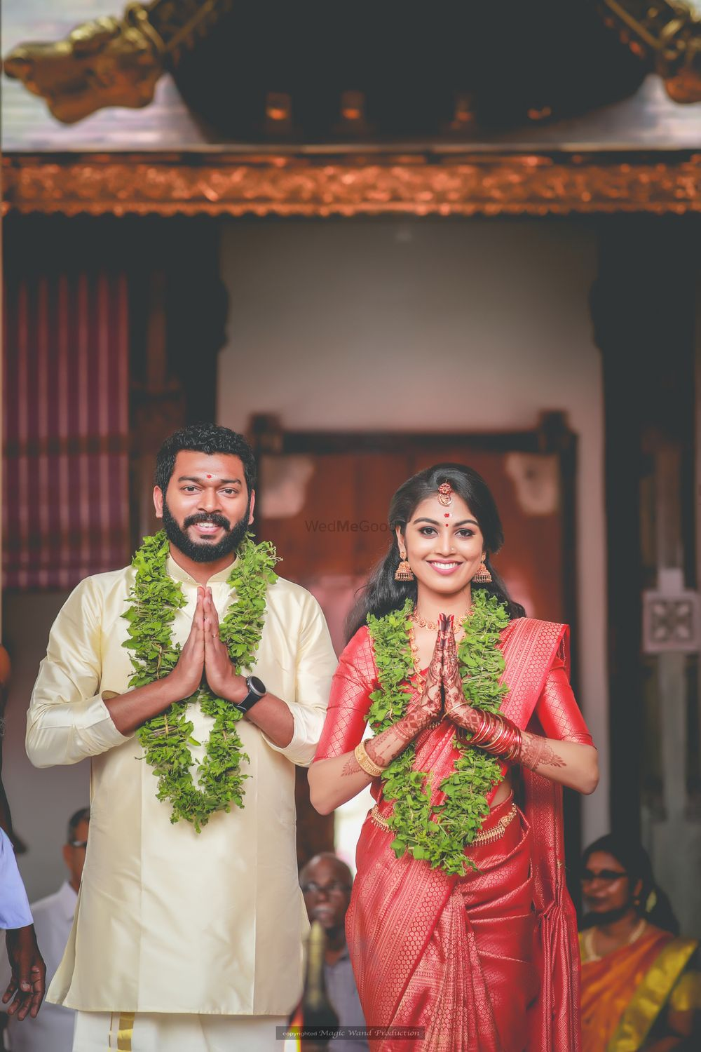 Photo of A south Indian couple on their wedding day