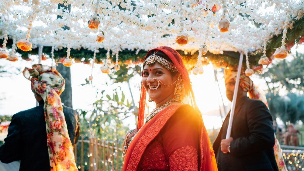 Photo of bridal entry shot