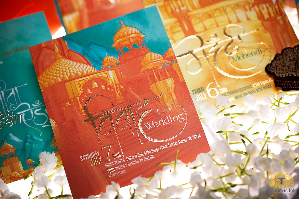 Photo From VINITA & ANDREW - By Turmeric Ink Invitations and Stationery