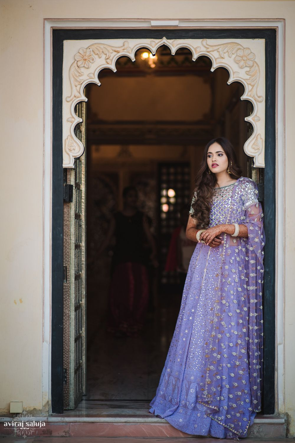 Photo of Pastel lehenga for bride to be