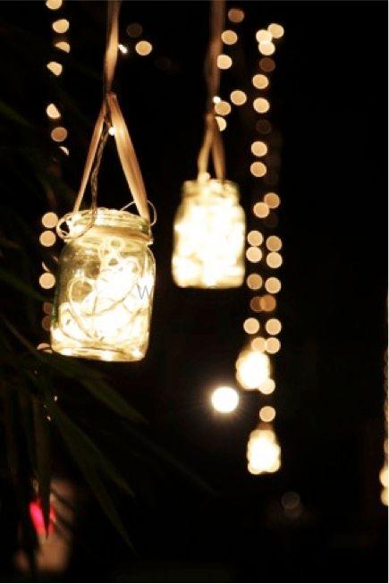 Photo of Hanging Mason Jars Decor with Fairy Lights