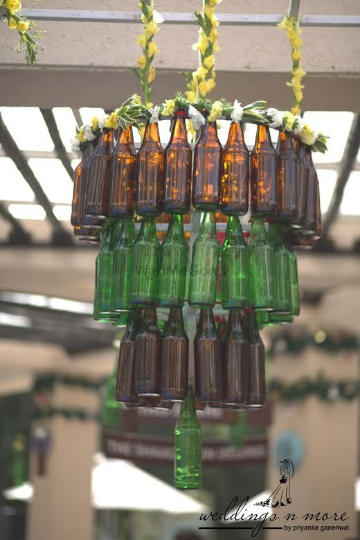 Photo of Glass bottle chandelier