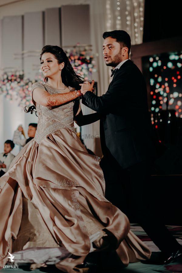 Photo of couple dancing shot