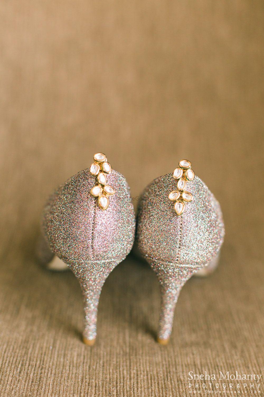 Photo of Polki and Meenakari Earrings on Silver Shoes