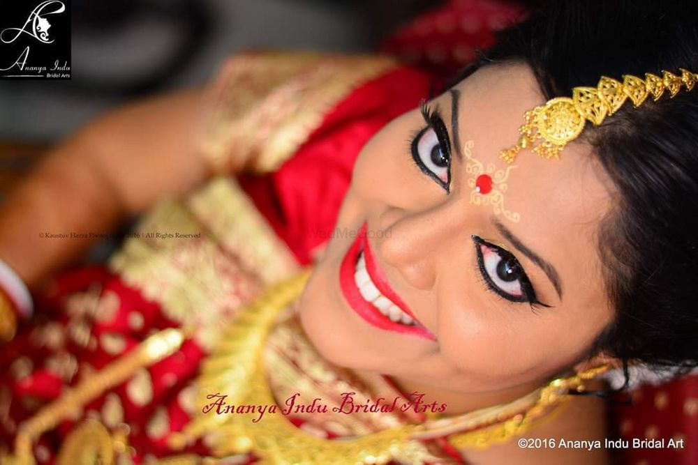 Photo From Traditional Bengali bridal makeup - By Ananya Indu Bridal Arts