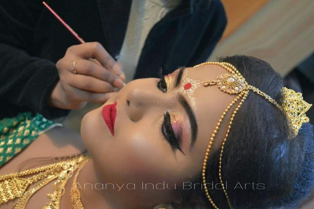 Photo From Traditional Bengali bridal makeup - By Ananya Indu Bridal Arts