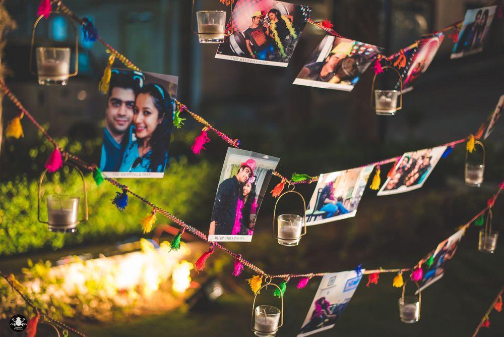 Photo of Photo memory decor at engagement