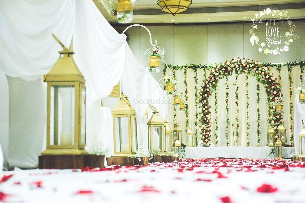 Photo of Gold Lanterns Entrance Decor