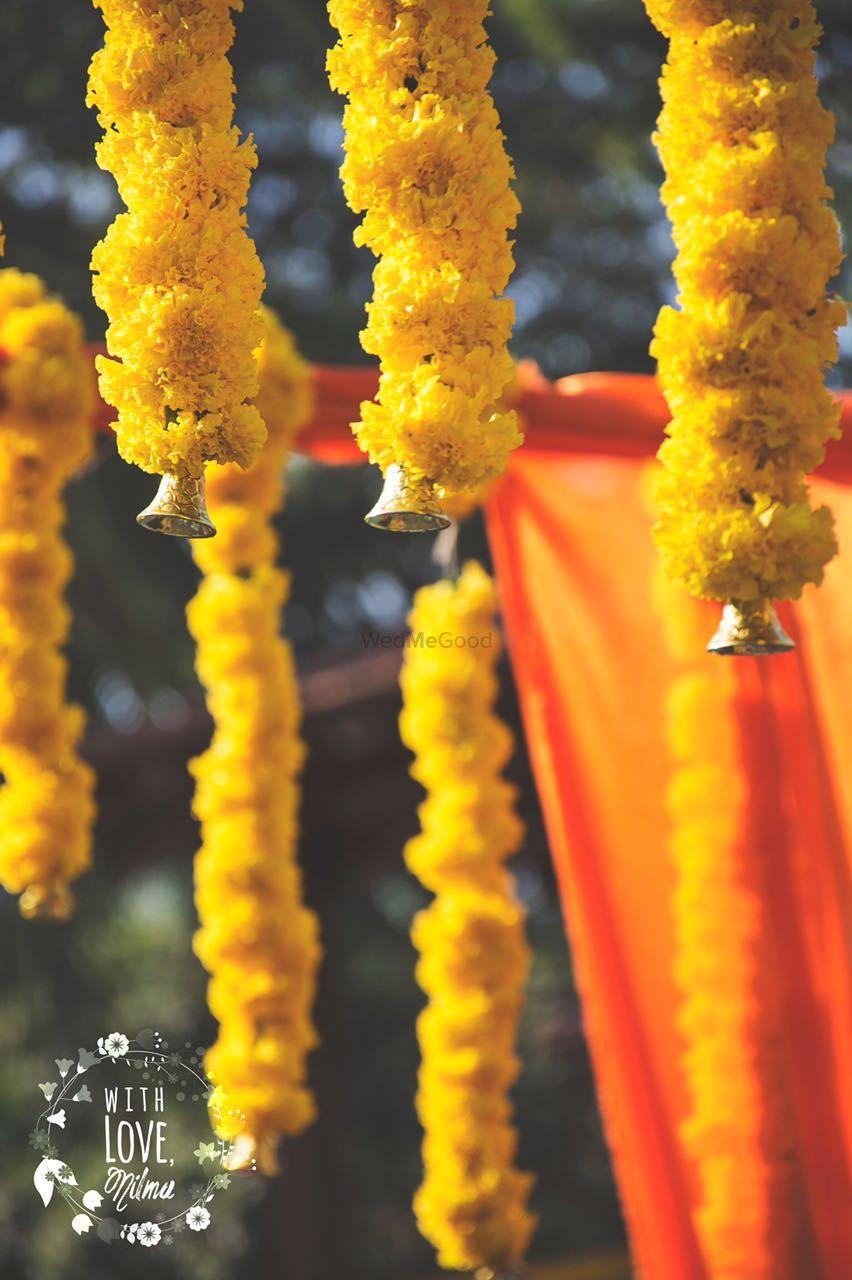 Photo of Genda Phool Decor with Bells