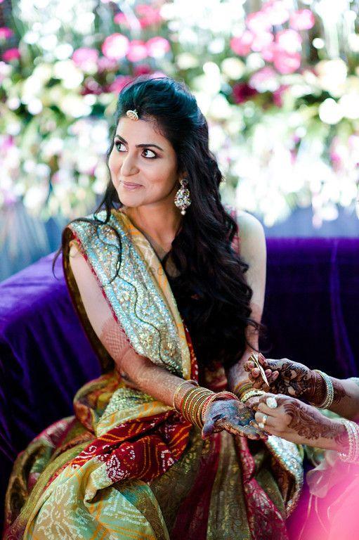 Photo of Bride Wearing Turquoise Lehenga