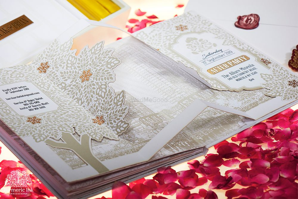 Photo From PALAK & BRIAN - By Turmeric Ink Invitations and Stationery