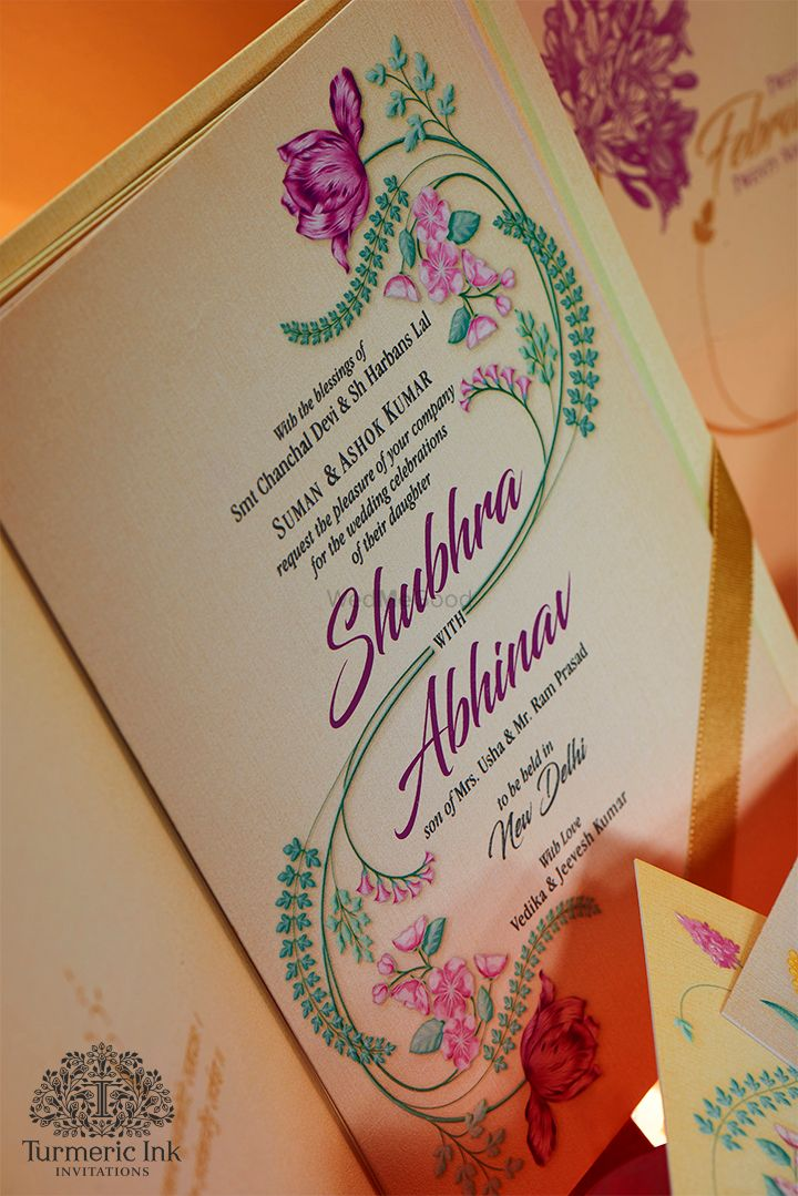 Photo From SHUBHRA & ABHINAV - By Turmeric Ink Invitations and Stationery