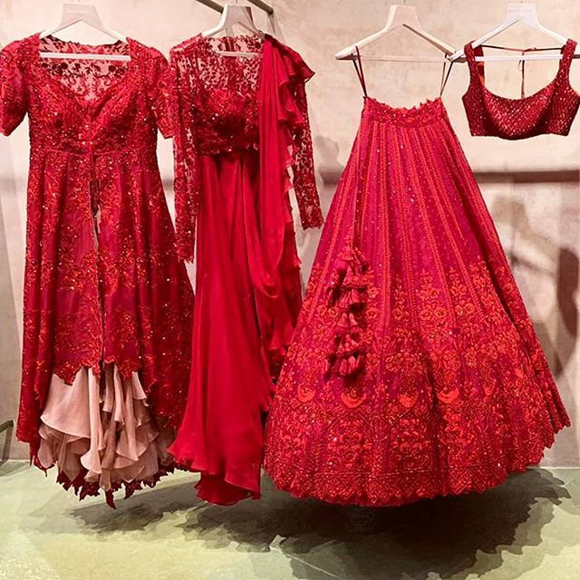 Red Bridal Lehenga Photo suit