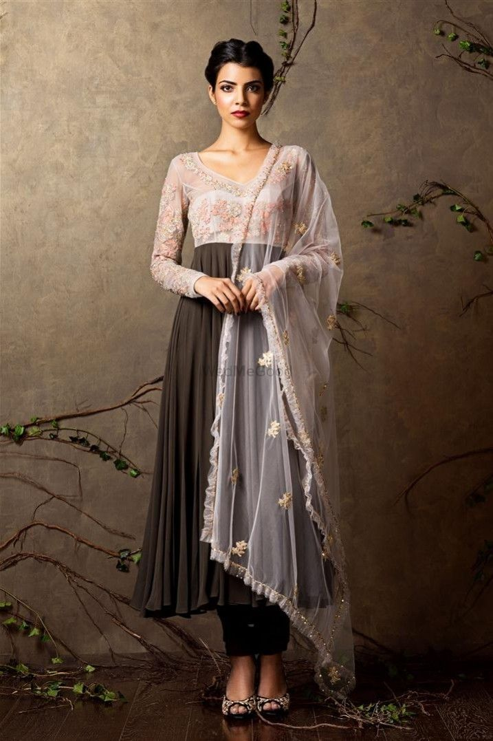 Photo of Anarkali suit for puja before the wedding
