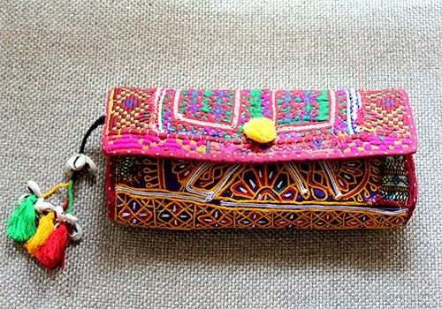 Photo of fabric clutch bag