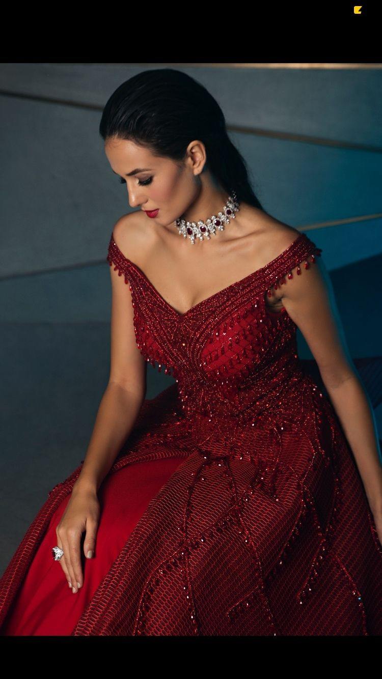 Photo of beautiful red gown perfect for cocktail