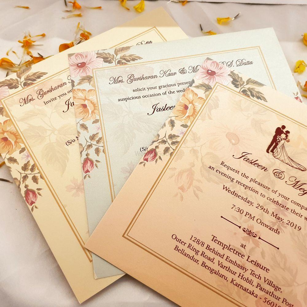 Photo From elegant wedding invites 100-150/- - By Indera Printers