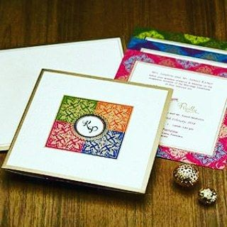 Photo From elegant wedding invites 100-150/- - By Indera Printers