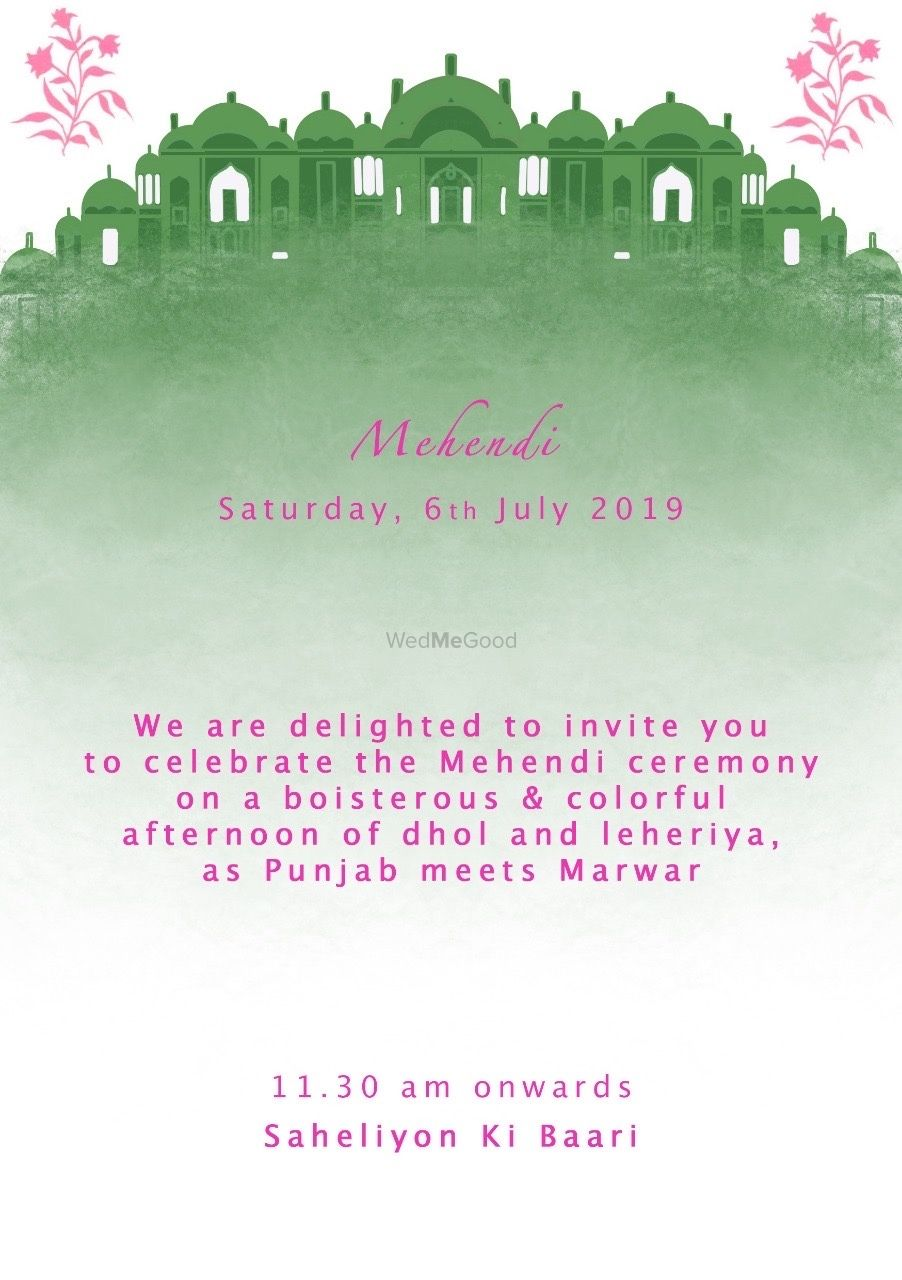 Photo From E-Invites for a Jaipur Wedding inspired by the Hawa Mahal  - By Pale Pink Studio