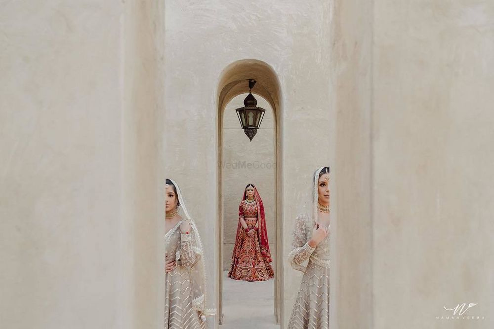 Photo of A timeless red bridal lehenga