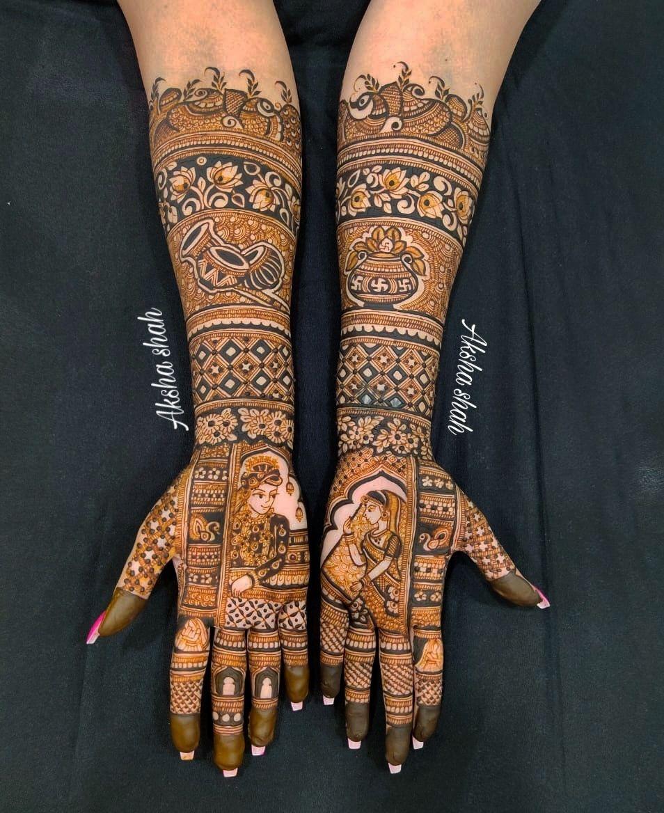 Photo From Bride Madhavi  - By Aksha Shah Mehendi Designer