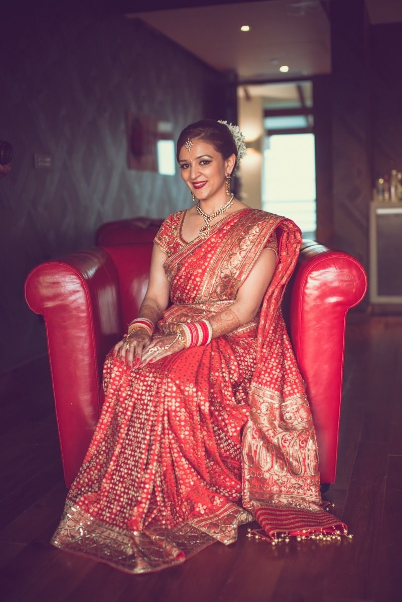 Photo of Red and Gold SIlk Lehenga