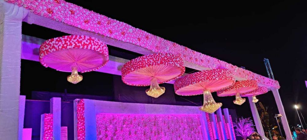 Photo From 5 Chandeliers Set - By Exotica- The Ambience Decorators & Event Management
