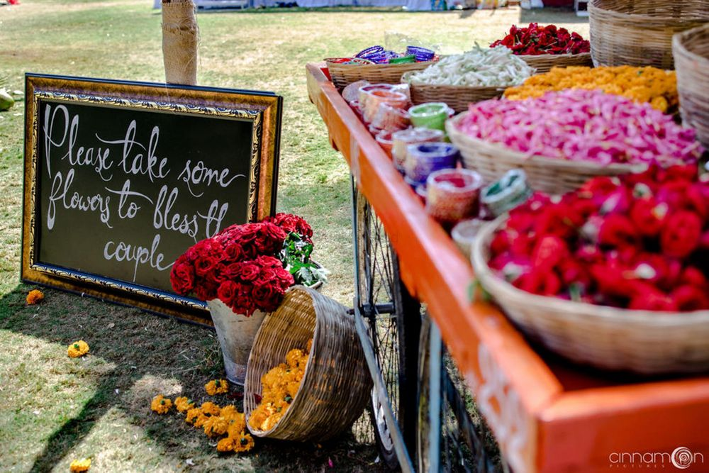 Photo of Personalised flower counter for guests.