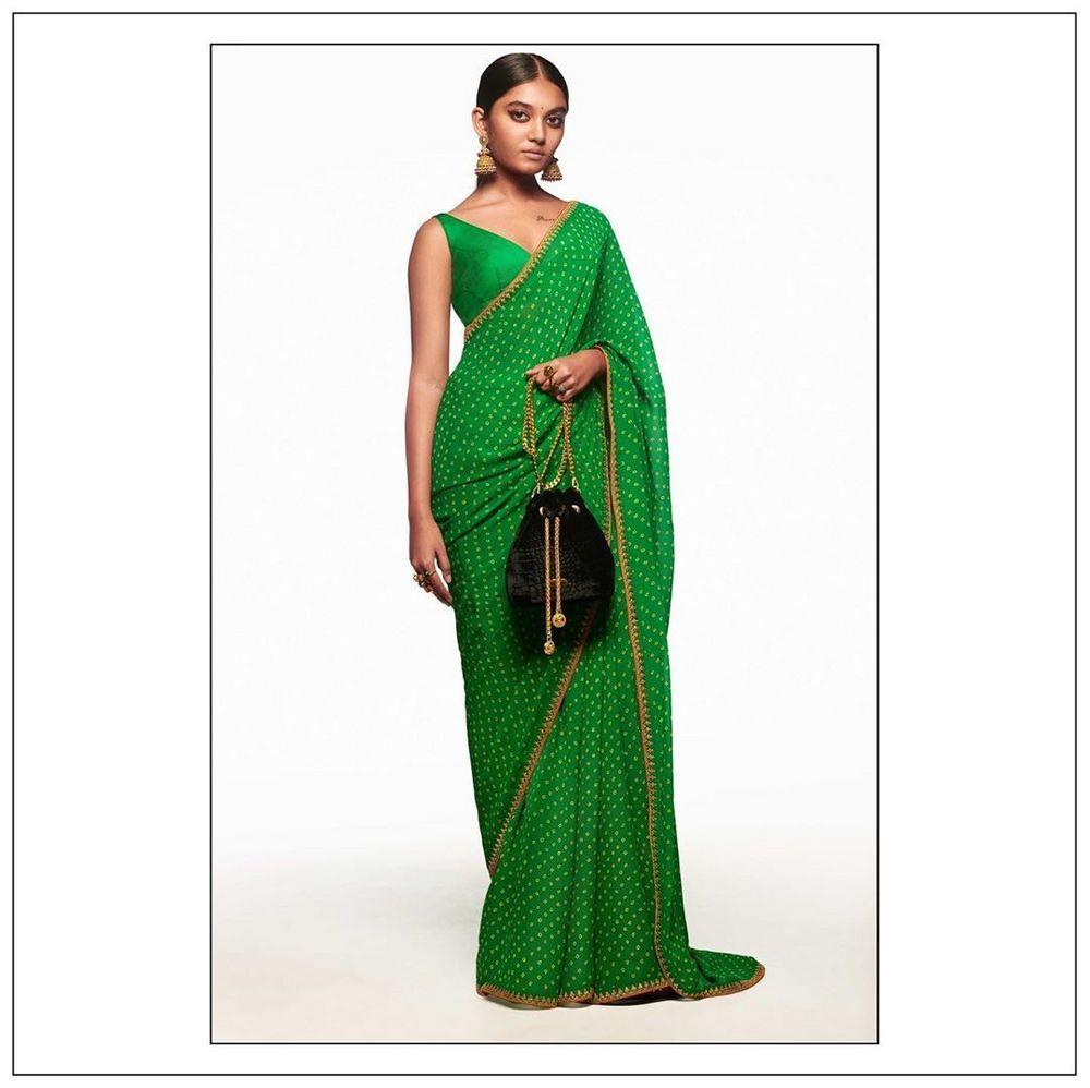 Photo of The Neo-Traditional Mehendi Sari.